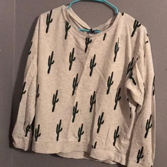 H M Sweaters - H M Cactus Sweater daa6c4cfe
